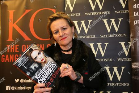 Stock Image of Kimberley Chambers signs copies of her new book, 'Life of Crime' at Waterstones bookshop