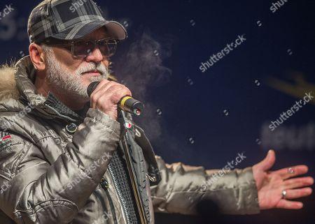 Editorial image of Nino de Angelo sings at the toboggan World Cup in Oberhof, Oberhof, Germany - 13 Jan 2018