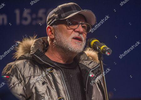 Editorial picture of Nino de Angelo sings at the toboggan World Cup in Oberhof, Oberhof, Germany - 13 Jan 2018