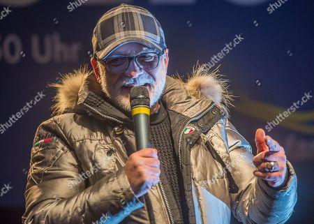 Editorial photo of Nino de Angelo sings at the toboggan World Cup in Oberhof, Oberhof, Germany - 13 Jan 2018