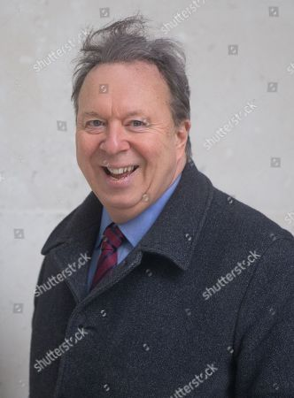 Stock Image of Steve Richards, Journalist and Political Commentator arrives at the BBC studios