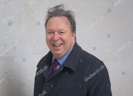 Stock Photo of Steve Richards, Journalist and Political Commentator arrives at the BBC studios