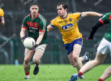 Roscommon vs Mayo. Mayo's Neil Douglas with David Murray of Roscommon