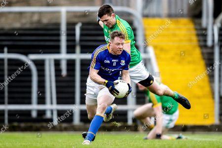 Meath vs Longford. Longford's Sean McCormack with Shane McEntee of Meath