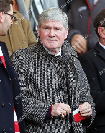 Patrick (Pat) Rice watches from the stands