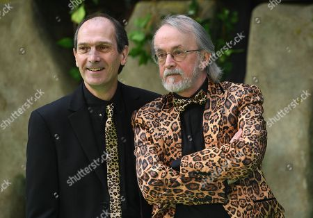 """Producers David Sproxton and Peter Lord arrive to the world premiere of the """"Early Man"""" in London, Britain 14 January 2018."""