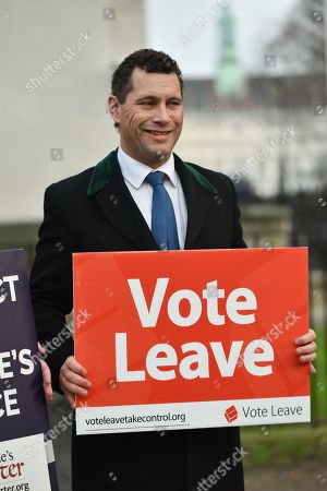 Steven Woolfe MEP. A 'non-partisan' Pro Brexit rally held opposite Downing Street.