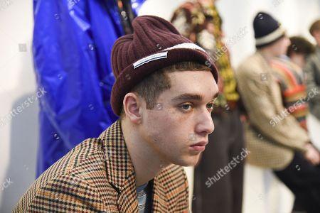 Editorial image of Andrea Pompilio presentation, Fall Winter 2018, Milan Fashion Week Men's, Italy - 13 Jan 2018
