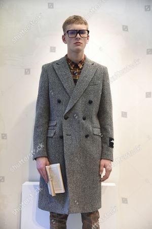 Editorial photo of Andrea Pompilio presentation, Fall Winter 2018, Milan Fashion Week Men's, Italy - 13 Jan 2018