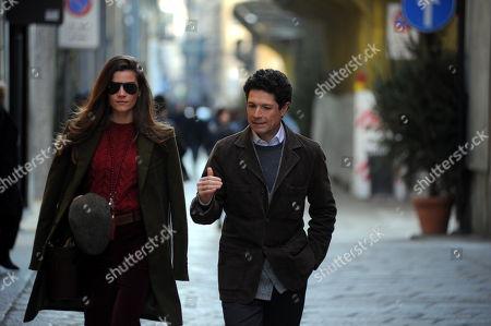 Stock Photo of Matteo Marzotto and girlfriend Nora Shkreli