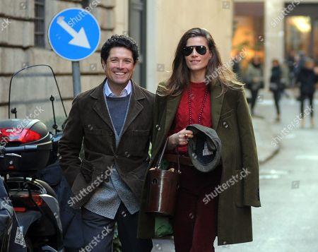 Matteo Marzotto and girlfriend Nora Shkreli