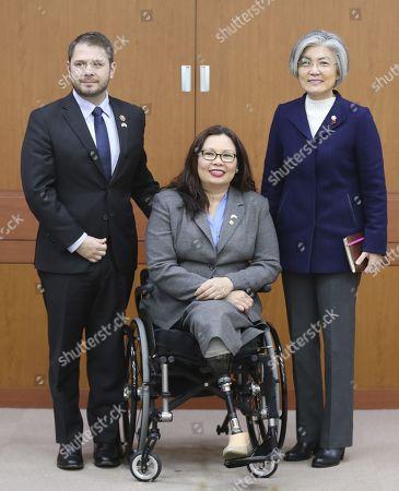 Kang Kyung-hwa, Tammy Duckworth and Ruben Gallego