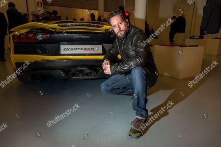 Editorial photo of 'Automobili Lamborghini' cocktail party, Milan Fashion Week Men's, Italy - 14 Jan 2018