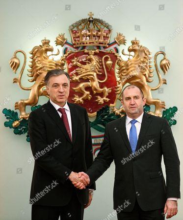 Editorial photo of Montenegro's President Filip Vujanovic visits in Sofia, Bulgaria - 15 Jan 2018