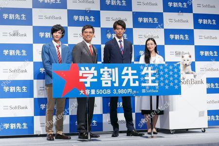 (L to R) Actors Jun Shison, Katsuhisa Namase, Ryoma Takeuchi and Mitsu Dan,