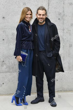 Filippa Lagerback and Daniele Bossari