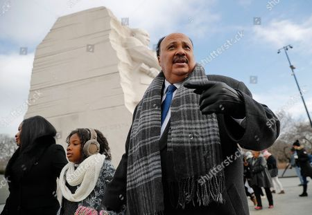 Martin Luther King III, Arndrea Waters, Yolanda Renee King. Martin Luther King III, right, with his wife Arndrea Waters, left, and their daughter Yolanda, 9, center, during their visit to the Martin Luther King Jr., Memorial on the National Mall in Washington, . The son of the late U.S. civil rights activist Martin Luther King Jr., and his family had earlier participated in an event commemorating the life and legacy of his father