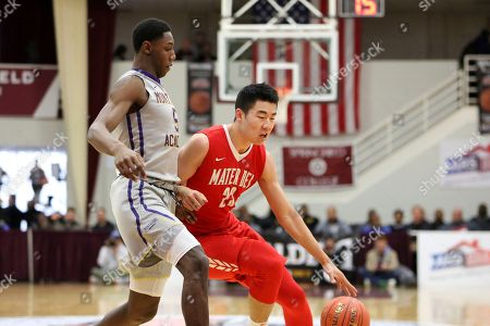 Mater Dei's Michael Wang #23 in action against Montverde Academy during a high school basketball game at the Hoophall Classic, in Springfield, MA. Montverde won the game
