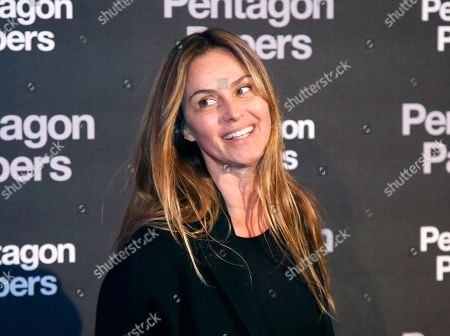 French actress Agathe De La Fontaine poses for photographers on arrival at the French premiere of the film 'The Post' in Paris, France, . The title of the French version is 'The Pentagon Papers