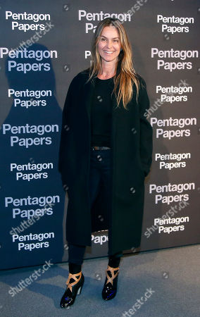 Stock Picture of French actress Agathe De La Fontaine poses for photographers on arrival at the French premiere of the film 'The Post' in Paris, France, . The title of the French version is 'The Pentagon Papers