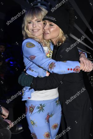 Milan Man's Fashion Week fall / winter 2018/2019 Frankie Morello Front Row - In the Picture: Paola Barale and Barbara Snellemburg