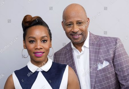 """Anika Noni Rose, Ruben Santiago-Hudson. Anika Noni Rose, left, and Ruben Santiago-Hudson, cast members in the BET series, """"The Quad,"""" pose for a portrait during the 2018 Television Critics Association Winter Press Tour at the Langham Hotel, in Pasadena, Calif"""