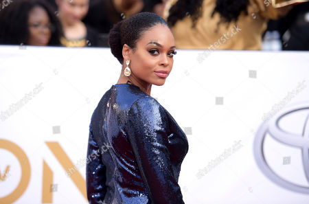 Demetria McKinney arrives at the 49th annual NAACP Image Awards at the Pasadena Civic Auditorium, in Pasadena, Calif