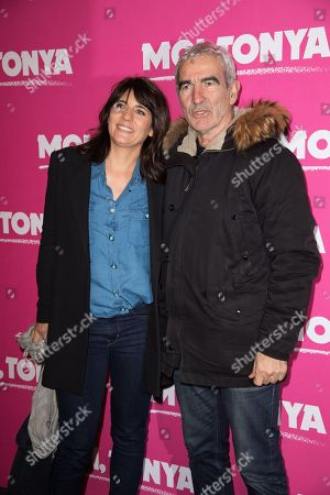 Former France soccer team coach Raymond Domenech, right, and his wife, Estelle Denis