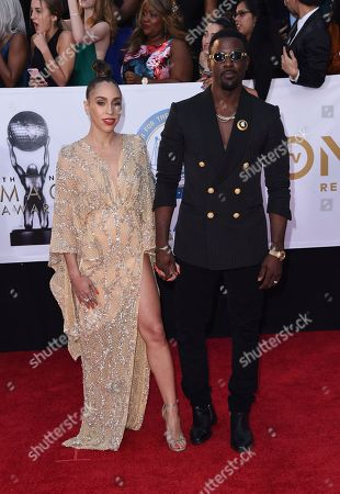 Lance Gross, Rebecca Jefferson. Lance Gross, right, and Rebecca Jefferson arrive at the 49th annual NAACP Image Awards at the Pasadena Civic Auditorium, in Pasadena, Calif