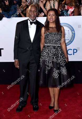 Danny Glover, Eliane Cavalleiro. Danny Glover, left, and Eliane Cavalleiro arrive at the 49th annual NAACP Image Awards at the Pasadena Civic Auditorium, in Pasadena, Calif