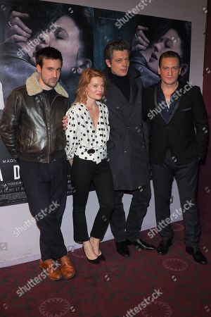 Gregoire Leprince-Ringuet, Melanie Thierry, Benjamin Biolay and Benoit Magimel