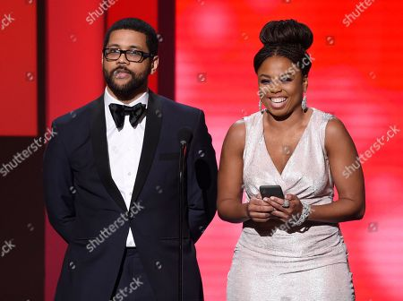 Michael Smith, Jemele Hill. Michael Smith, left, and Jemele Hill present the award for outstanding comedy series at the 49th annual NAACP Image Awards at the Pasadena Civic Auditorium, in Pasadena, Calif
