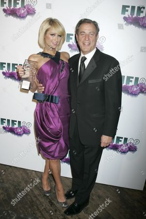 Stock Photo of Paris Hilton and Neil Katz,CEO and Chairman of Parlux fragrances