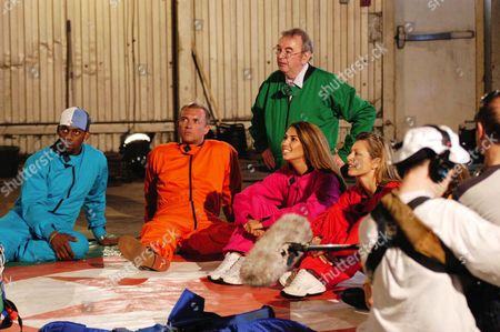 'Drop the Celebrity'  - Richard Blackwood, Scott Wright, Ian McCaskill, Leilani Dowding and Suzanne Dando.