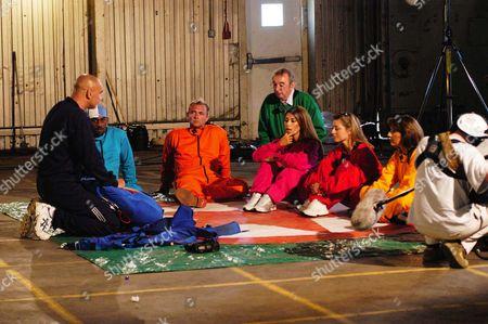 'Drop the Celebrity'  - Leilani Dowding, Scott Wright, Suzanne Dando, Ian McCaskill, Jane McDonald and Richard Blackwood.
