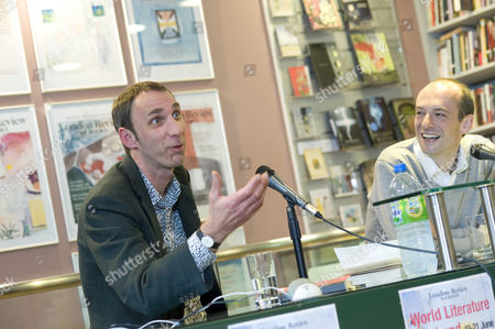 Stock Image of Will Self and fellow Author Nicholas Blincoe