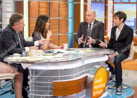 Jim Gamble and Alex with Piers Morgan and Susanna Reid