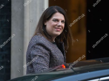 Caroline Noakes, Minister of State (Minister for Immigration),arrives for a Cabinet meeting