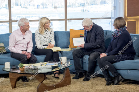 Phillip Schofield and Holly Willoughby with Reg Thompson and Tina Hughes MBE