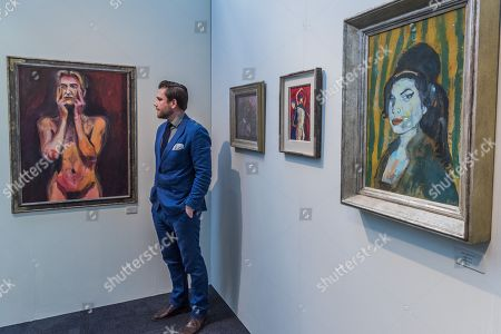 David Bowie and Amy Winehouse by Dan Llywelyn Hall (pictured)  - The 30th London Art Fair 2018 at the Business Design Centre, Islington.