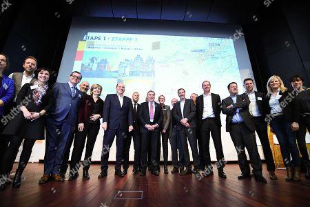 Eddy Merckx, Christian Prudhomme, Paul Magnette, Alain Courtois, Karine Lalieux, Francoise Schepmans, Philippe Close