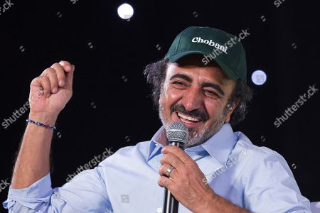 Hamdi Ulukaya, the founder, chairman and CEO of Chobani, speaks at the National Retail Federation conference, in New York