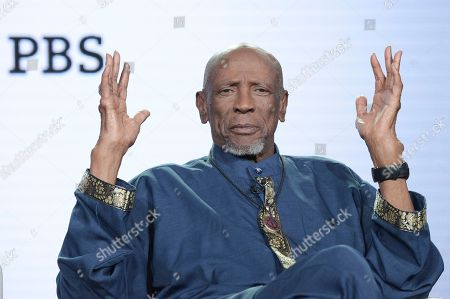 "Stock Photo of Louis Gossett, Jr. participates in the ""Sighted Eyes Feeling Heart"" panel during the PBS Television Critics Association Winter Press Tour, in Pasadena, Calif"