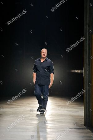 Stock Image of Andreas Melbostad on the catwalk