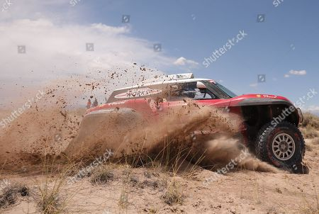 Finnish driver Mikko Hirvonen of Mini competes during stage 10 of the Dakar Rally 2018 between Salta and Belen, Argentina, 16 January 2018.