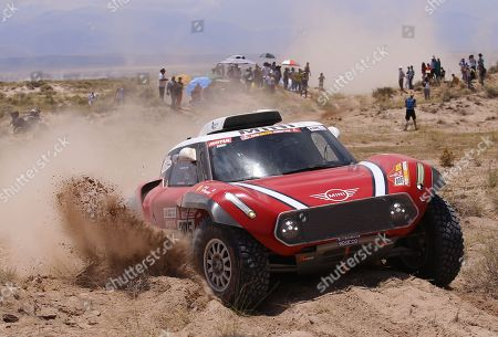 Finnish Mikko Hirvonen and German Andreas Schulz compete during stage 10 of the Dakar Rally 2018 between Salta and Belen, Argentina, 16 January 2018.