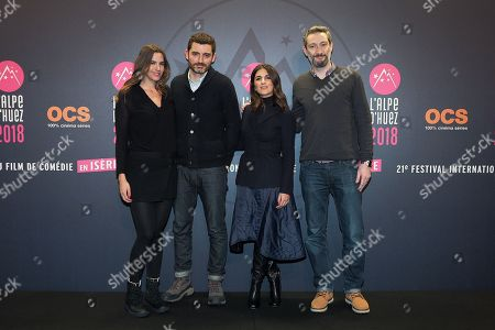 Stock Image of Charlotte Gabris, Alexandre Coffre (director), Geraldine Nakache and Vincent Desagnat