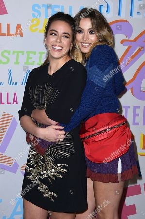 Chloe Bennett, Paris Jackson. Chloe Bennett and Paris Jackson arrive at the Stella McCartney Autumn 2018 Presentation on in Los Angeles