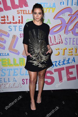 Chloe Bennett arrives at the Stella McCartney Autumn 2018 Presentation on in Los Angeles
