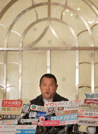 Hong Kong actor Eric Tsang speaks during a press conference in Hong Kong, . Tsang vehemently denies rumors of allegedly sexual harassment made against him. Tsang said that all accusations are fabricated